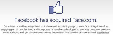 facebook wants face.com
