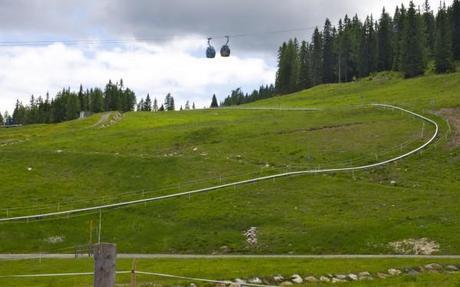 Summer sledding track at the Nassfeld region in Kärnten, Austria