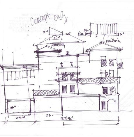 Architectural Hand Drawing Sketches