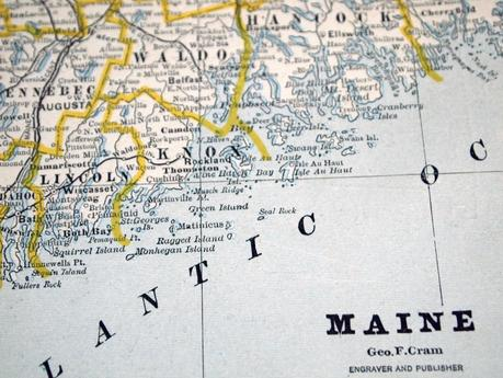 Beautiful Thing of the Day: Map of the Maine Coastline from 1884 (and) Bald Mountain