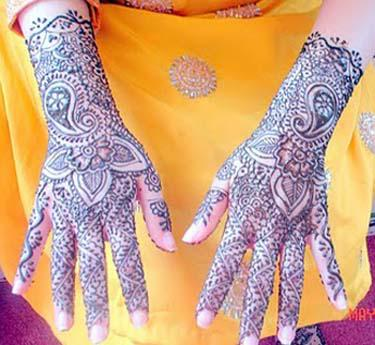 Latest Indian Bridal Mehndi Design For Women Collection 2012