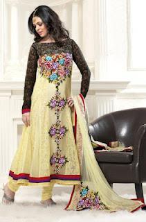 Glamorous Anarkali Frocks Designs 2012 For Eid Summer