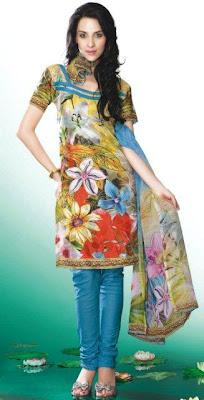 Casual Printed Salwar Kameez Collection 2012 For Eid Summer