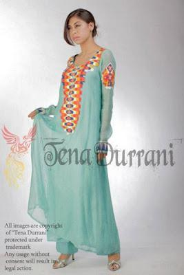 Party Wear Summer Collection 2012 By Tena Durrani