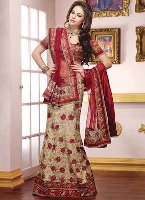 Pakistani Bridal Lehenga And Dupata Style Collection 2012