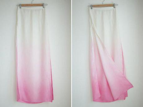 Easy DIY: Dyed Ombre Maxi Skirt for Summer