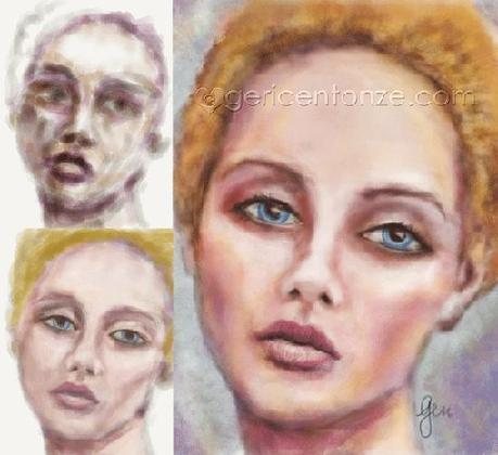 PAINT - a sketch card and a finger painting