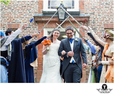 York Unitarian Church Wedding quirky cute couple