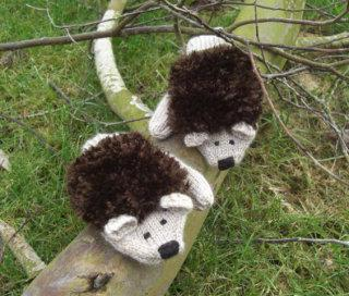 Spikey the Hedgehog Mittens