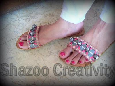Shazoo Creativity New Kolhapuri Shoes Collection 2012 For Eid Summer