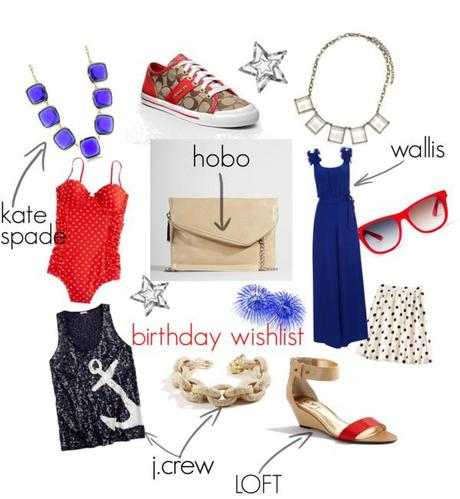 My Birthday Wishlist: Red, White & Blue