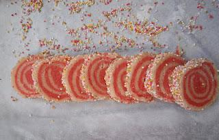 Vanilla Strawberry Cookies