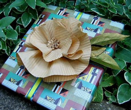 Coffee Filter Flower Gift Topper