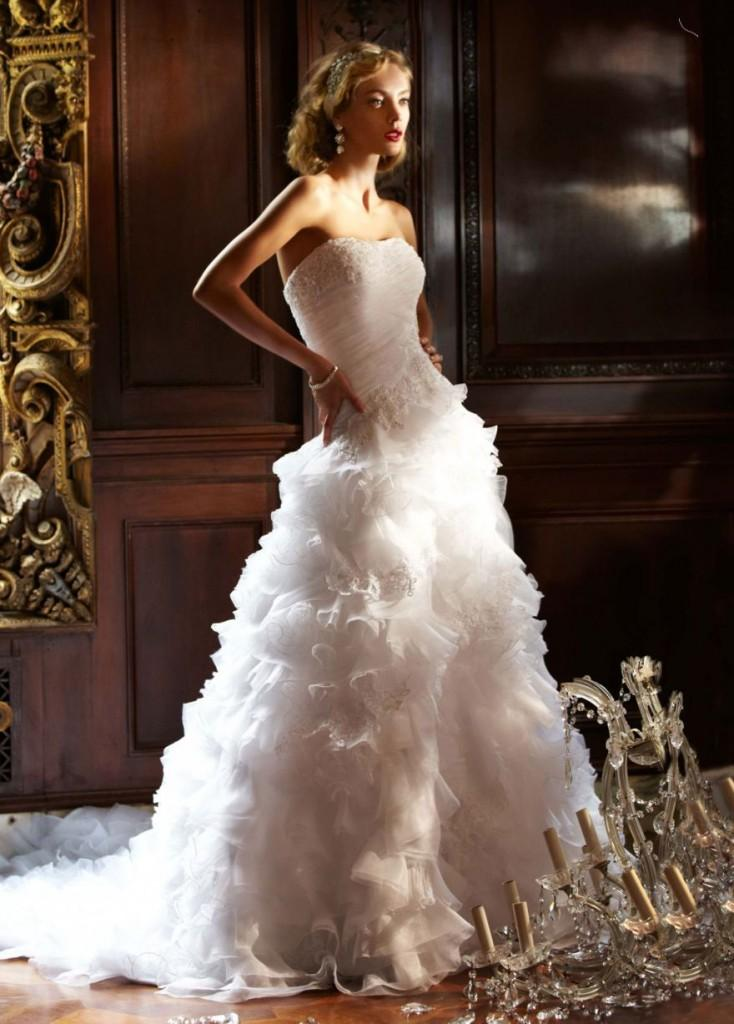 davids bridal ruffle wedding dress, ruffle wedding dress, boca raton wedding dress