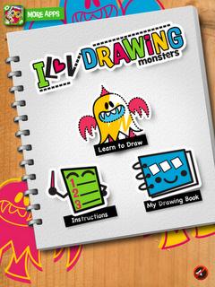 iLuv Drawing Monsters iPad App, options