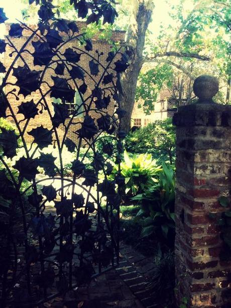 With its colonial mansions, and secret gardens, and pirate tunnels, and troubled history, Savannah is deliciously haunting, even in the daytime. This morning, the air was perfumed, lacking in humidity, and the breeze moved the wind chimes, eerily, as I strolled along the empty streets.