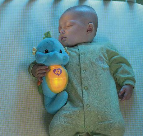 Fisher-Price Soft and Glow Seahorse in Blue