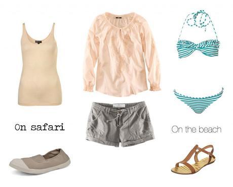 Safari and beach honeymoon wardrobe