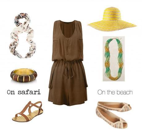 Safari and beach honeymoon looks
