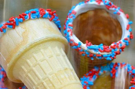 Sprinkle Ice Cream Cones