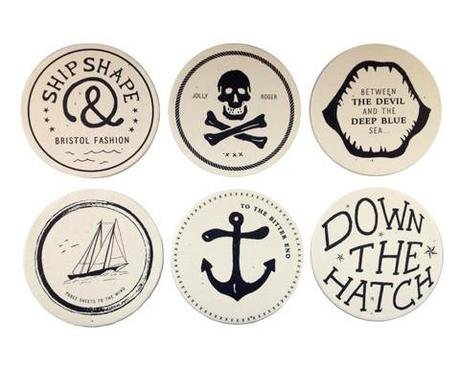 Wilder Home Style: Izola, Izola, Give Me Your Wares (or) Coasters and Tattoos