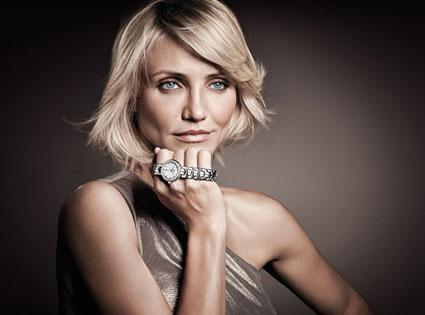 Cameron Diaz and her Tag Heuer