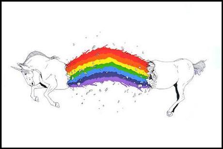 LUSH 'Colourful Guts' Unicorn Print