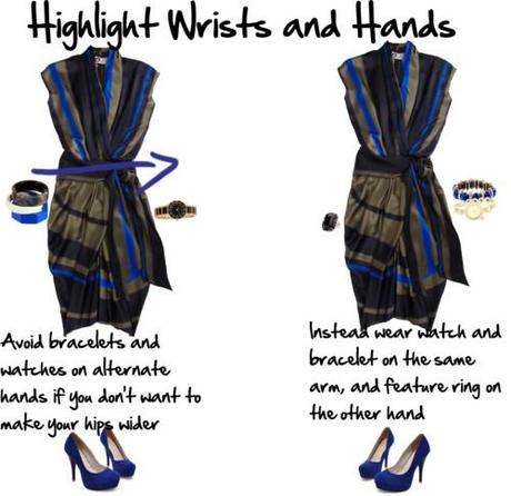 highlight wrists and hands