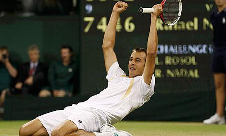 Wimbledon Tennis - Lukas Rosol takes out Rafael Nadal