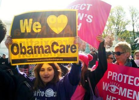 Support for the Affordable Care Act  as the Supreme Court upholds its constitutionality.