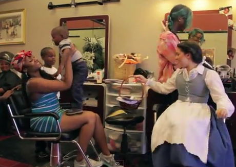 Beauty and the Beat: Belle goes to get her hair did