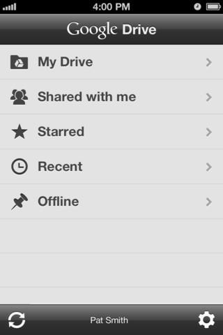 google drive for iOS