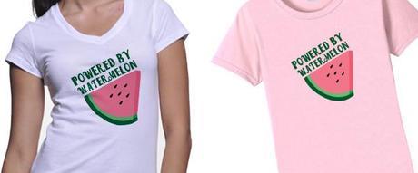 watermelon, t-shirt, summer, fruit,