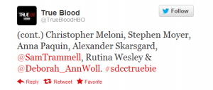 The True Blood Panel for #SDCC has been announced!