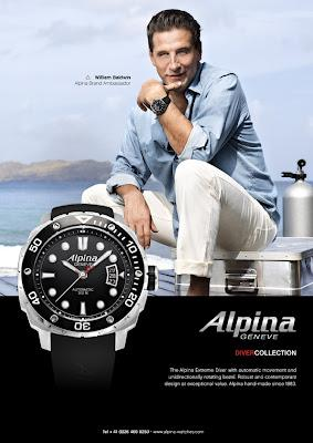 Actor & Global Alpina Brand Ambassador, William Baldwin, Celebrate Alpina Geneve's 2012 Diver Collection