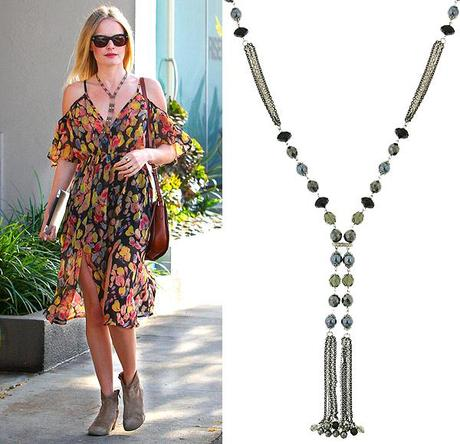 kateFab Find Friday: Tassel Drop Necklace & Organic Shaped Danglers