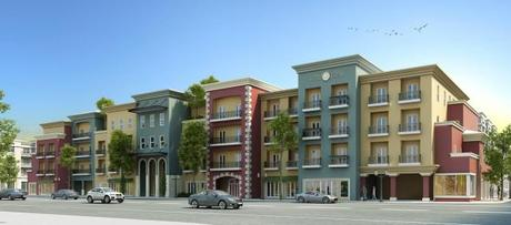 Mixed Use 3D Building Rendering