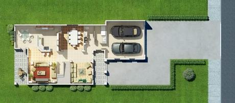 2D Lower House Building Floor Plan
