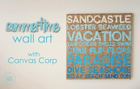 summertime wall art...with #CanvasCorp