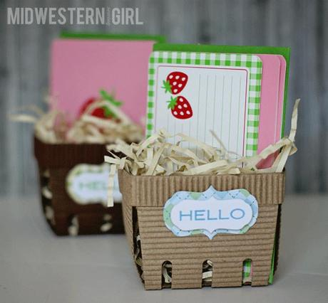 berry basket gift packaging...with @LifestyleCrafts
