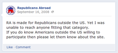 I still can't find Republicans abroad.