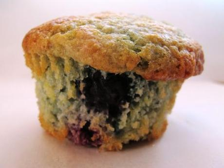 Blueberry lemon cornmeal muffins