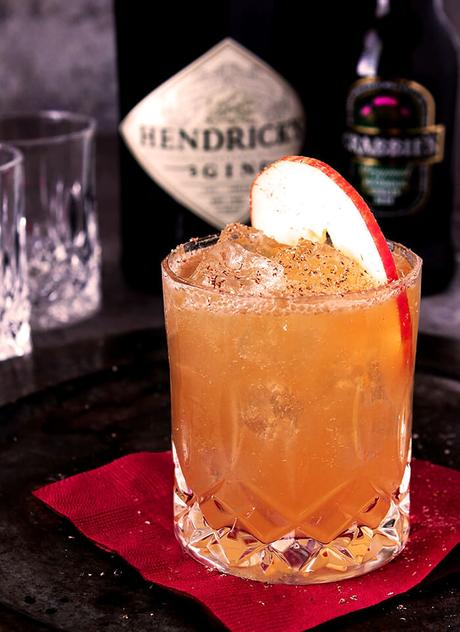 Gin, Apple Cider, and Ginger Beer Cocktail