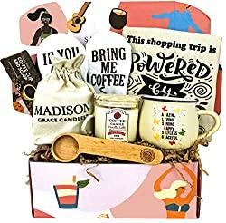 Image: Coffee Lover Gift Set for Mother by Silly Obsessions. Birthday Basket Box for Mom, Wife. Coffee Themed gifts for New Moms, Baby Shower   Brand: SILLY OBSESSIONS