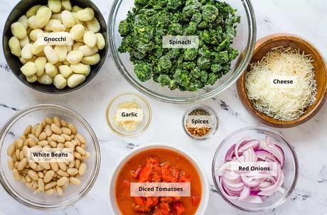 Veggie Gnocchi with Spinach and White Beans