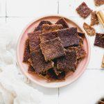 Have leftover sourdough discard? Make these Gluten-Free Cinnamon Sugar Sourdough Discard Crackers! These gluten-free crackers are quick and simple to make, and sure to satisfy your snacky sweet tooth!