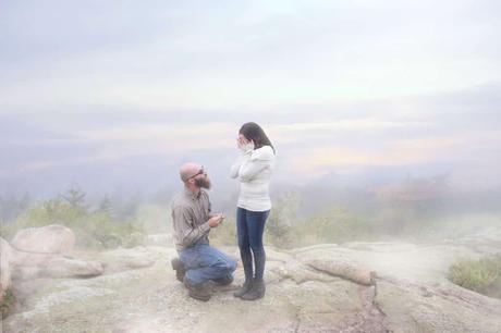 Cadillac Mountain Surprise Proposal   Bar Harbor Wedding