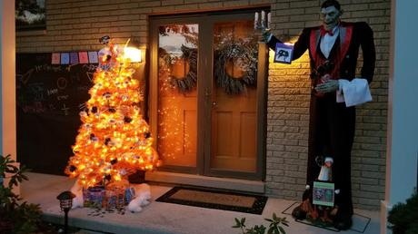 Image: A Halloween candy tree is a festive way to welcome fall and bring the season's cheer to your porch