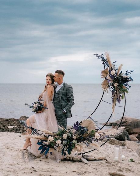 micro wedding venues bohemian moon altar on the beach tatyanacvetkova