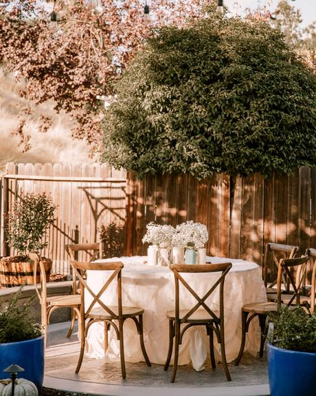 micro wedding venues backyard table stephanie kord
